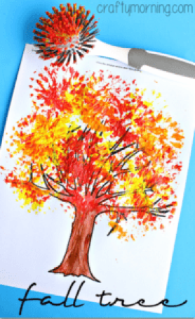 Fall Tree Kid Crafts Celebrate Autumn Color A More Crafty Life