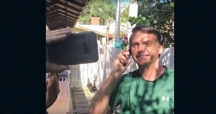 """""""A Folha de S.Paulo é a maior fake news do Brasil"""", disse o presidente Jair Bolsonaro, em uma transmissão ao vivo transmitida em telões na avenida Paulista. A fala foi feita uma semana antes do segundo turno da eleição de 2018, que acabou por elegê-lo."""