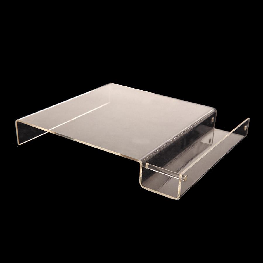 Quesera con espacio para galletas hecha en acrílico transparente