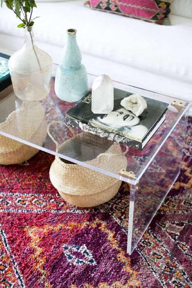 mesa acrilico