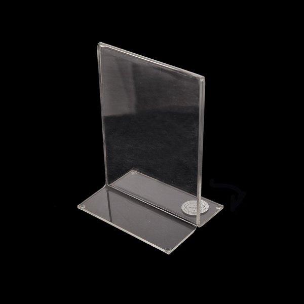 Porta hojas en acrílico tamaño 5x7 Vertical para escritorio