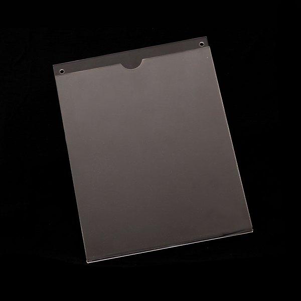 Porta hojas de acrílico tamaño carta vertical con pestaña para poner en la pared