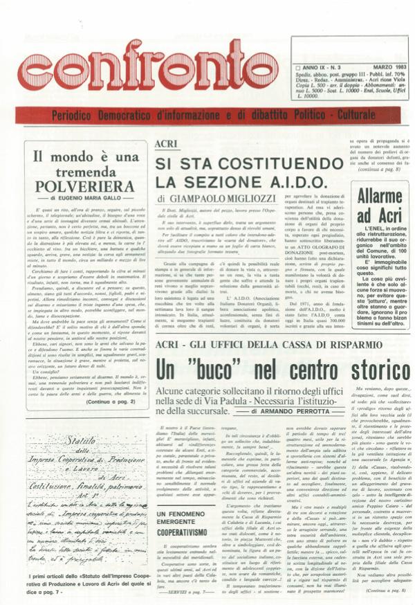 Confronto n°3 del 1983