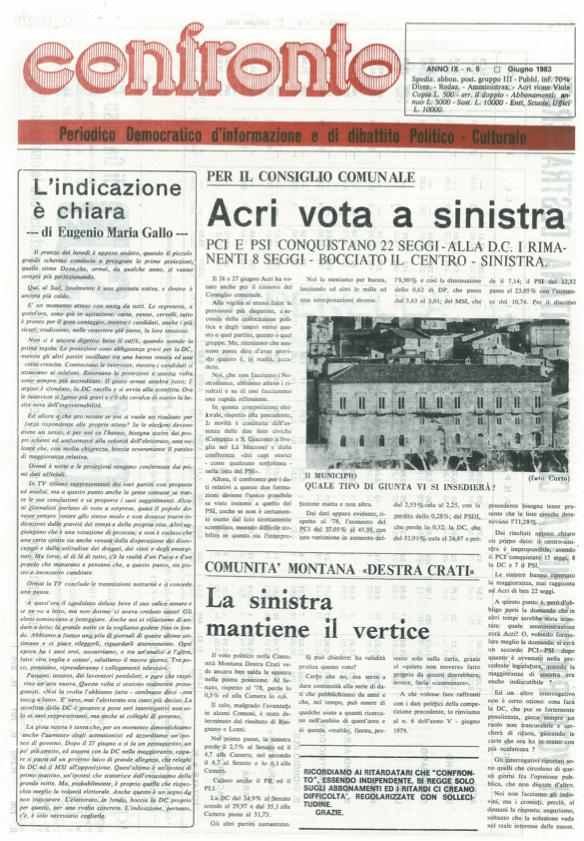 Confronto n°6 del 1983
