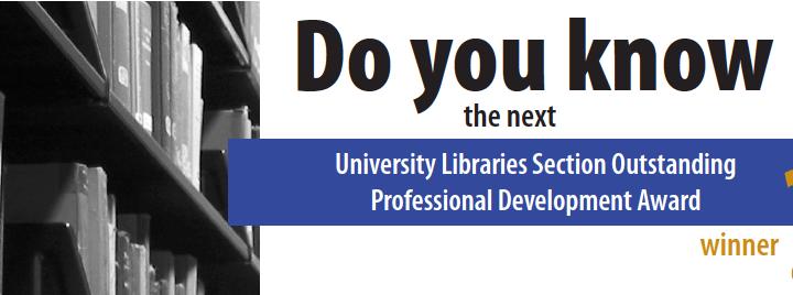 ULS Professional Development Award graphic