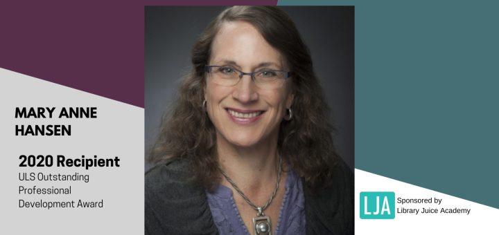 Mary Anne Hansen Outstanding Professional Development Award 2020