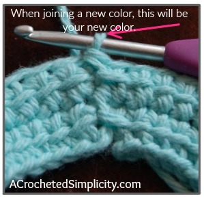 How to join a linked double crochet - photo & video tutorial by A Crocheted Simplicity