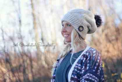 Powderhorn Ski Slouch by A Crocheted Simplicity