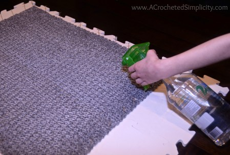 How to Block Acrylic Yarn - Wet, Spray & Steam Blocking by A Crocheted Simplicity