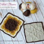 "Free Crochet Pattern - Cabled Blooms 12"" Afghan Square by A Crocheted Simplicity"