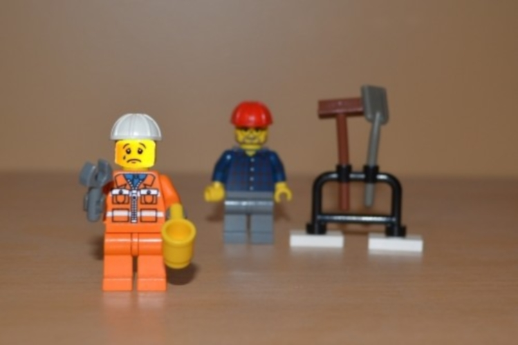 Lego Construction Worker Crying
