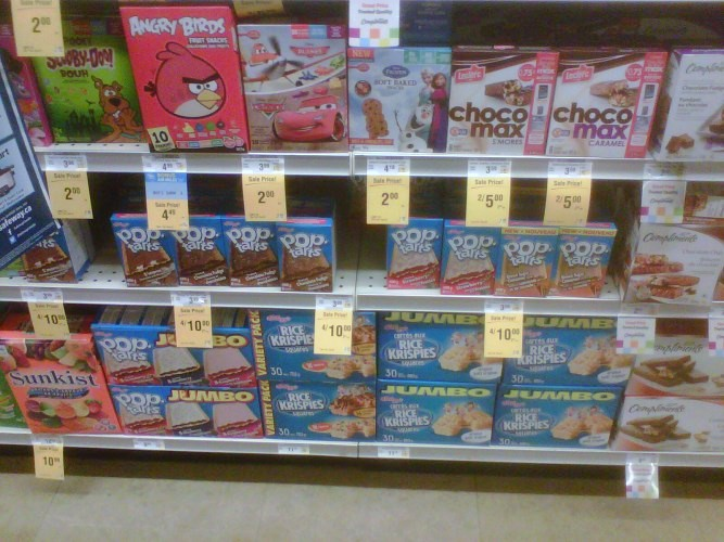 Pop Tarts Display Safeway