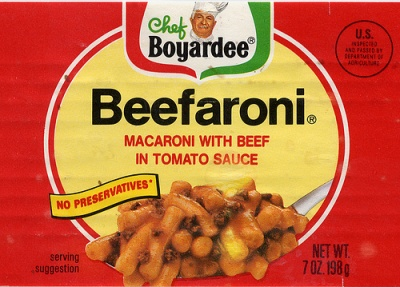 Beefaroni Label