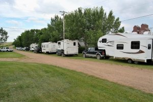 Campers at Rowley Alberta