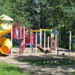 Campground Playground Miquelon Lake