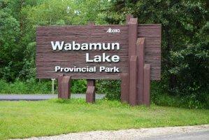 Wabamun Lake Provincial Park Sign