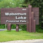 Wabamun Lake Provincial Park Sign