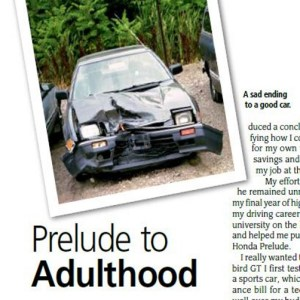 My First Car Becomes My First Published Work