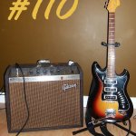 vintage guitar and amp