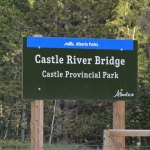 The sign at Castle River Bridge Campground