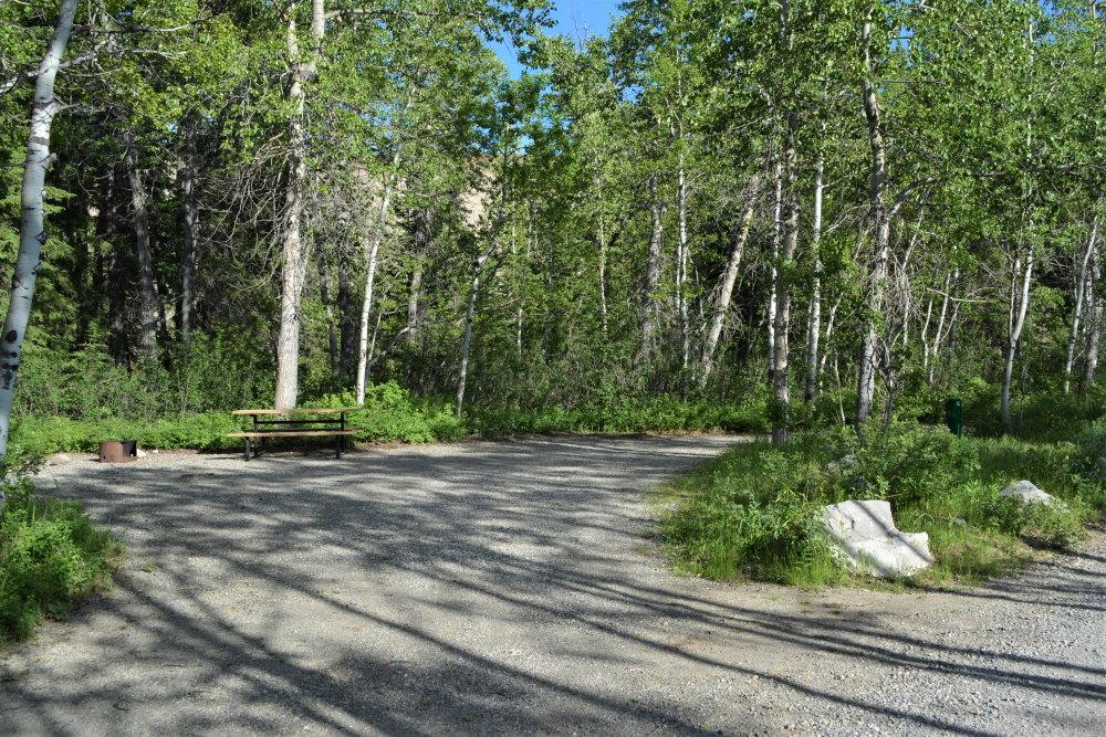 empty RV campsite