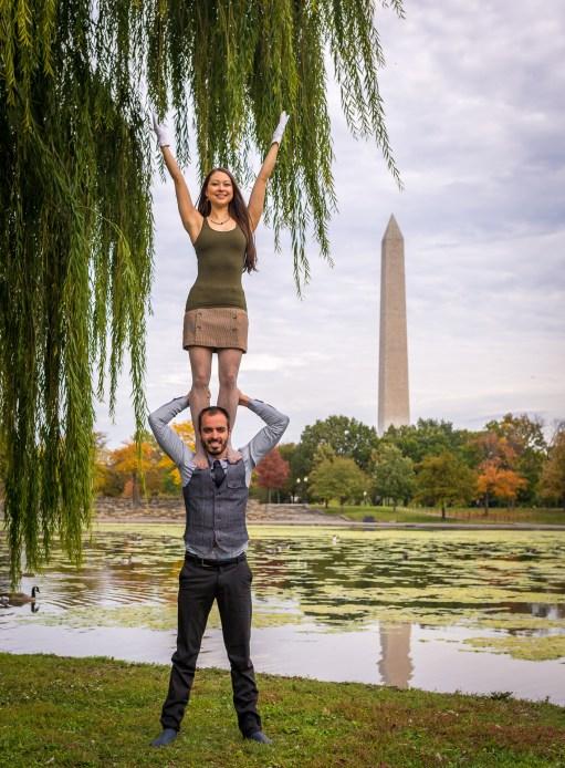 Brian Cruikshank and Lindsey Fong in Washington, DC. Photo by Brian Cruikshank