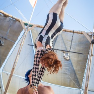 Knot pose at Burning Man 2015