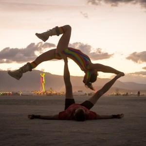 Brian Cruikshank and Fallon Nicole Sharon Lev. at Burning Man 2015