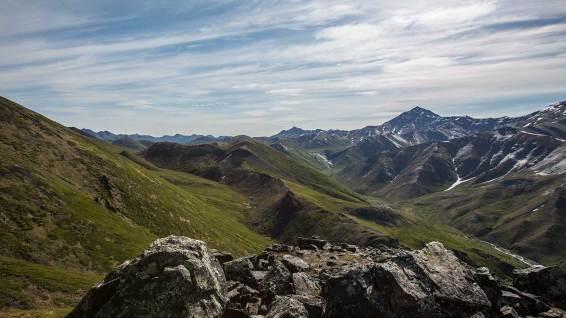 Aussichtspunkt: die Bergketten vom Tombstone.