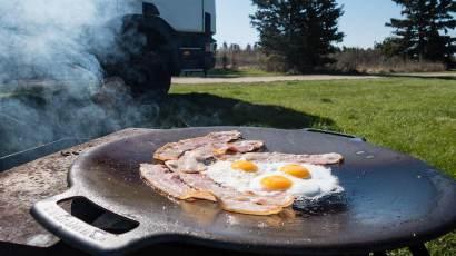 Frühstück vom Grill...