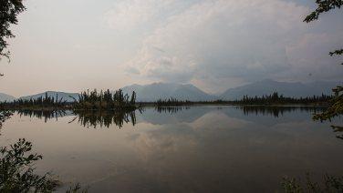 Irgendwo in Alaska: Durch die Waldbrände entsteht eine spezielle Stimmung.