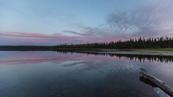 Schöne Abendstimmung am Cobb Lake.