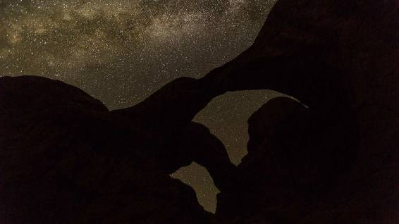 Double Arch meets Milky Way.