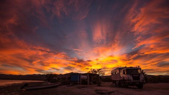 Sonnenuntergang in der Baja.