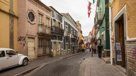 Stil-echte Fortbewegung in Guanajuato.