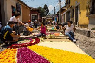 Echte Blumenteppiche sind sehr aufwändig.
