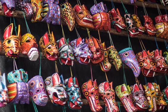 Maya-Tiermasken.