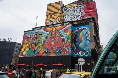 In Bogota treffen wir überall auf tolle Wandmalereien.