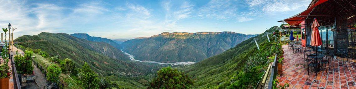 Morgenstimmung am Canyon von Chicamocha.