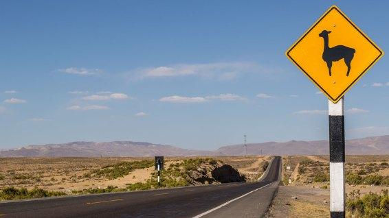 Unser Lieblings-Schild in Peru.
