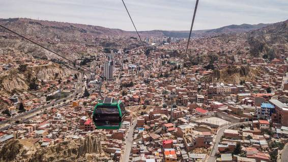 ÖV in La Paz. Wo gehts zur Schneebar?