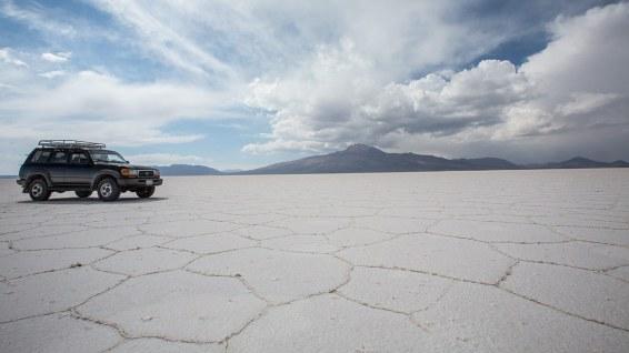 Wir mieten uns einen Jeep für den Salar de Uyuni.