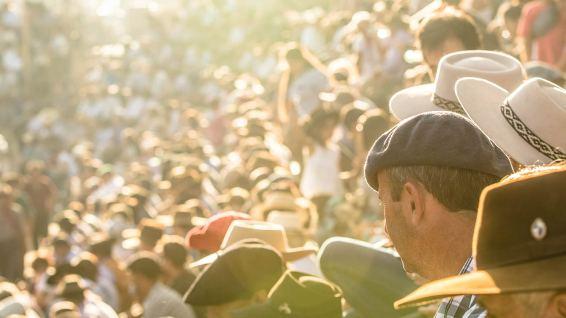 Zuschauer-Dresscode: immer mit Hut!
