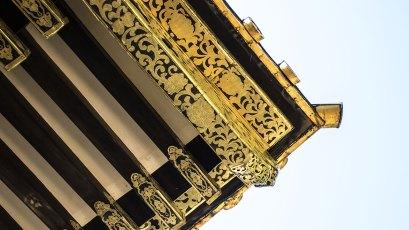 Nikko-Dach mit Ornamenten.