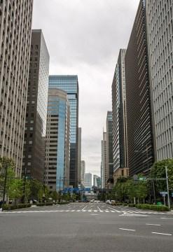 Tokyo ist erstaunlich ruhig und verkehrsarm...