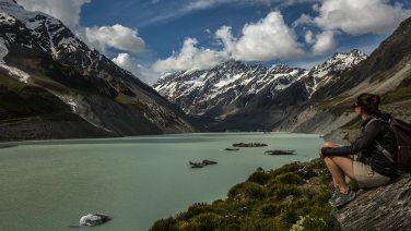 … führt bis zum Gletscher, dem Ziel der Wanderung.