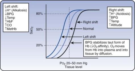 o2 dissociation curve