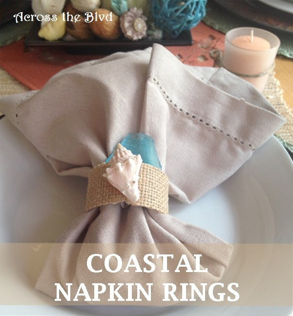 Coastal Napkin Rings for an Autumn Tablescape