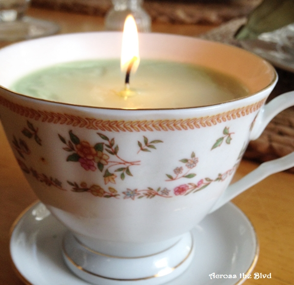 Tea Cup Candle Across the Blvd