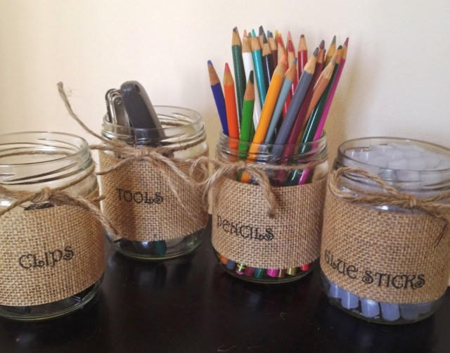 burlap wrapped holders